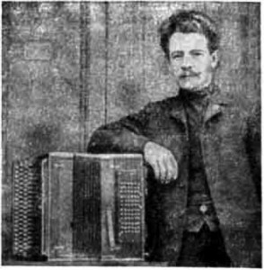 "in 1907 well-known accordion maker Piotr Sterligov had made the instrument for Jacov Orlansky-Titarenko – popular harmonica's player from St Petersburg.Jacov Orlansky Titarenko. This instrument was called ""BAYAN"" - since then it's name is being used for similair versions of button accordions."